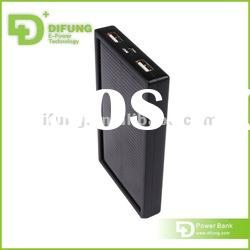 Wholesale 5000 double usb output Solar portable charger for samsung galaxy s2 i9100
