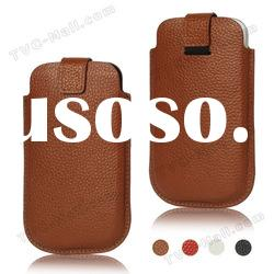 Wholesale Genuine Leather Pouch Case for Samsung i9300 Galaxy S 3 / III HTC phones Free Shipping