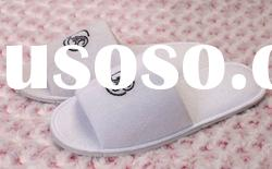 cheap 100% cotton terry long loop slipper for hotel