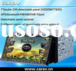 double din TFT digital touch screen car dvd player gps