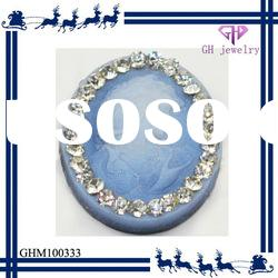 fashion blue lady resin crystal pendant beads