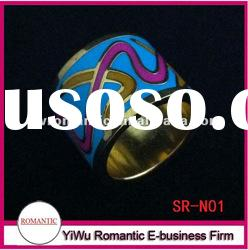 fashion hot sale gold plated stainless steel jewelry ring
