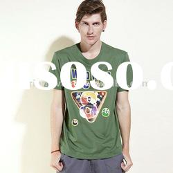 green colorful printing custom high quality 100% cotton men s t shirt