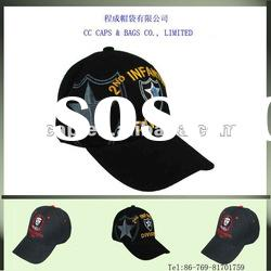 high quality black cotton embroidery baseball caps ccap-0185