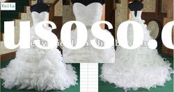 hot selling large organza skirt wedding gown voila