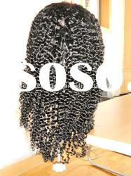 human hair jerry curl full lace wigs for african women