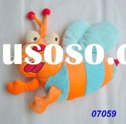 plush and stuffed Animal pillow,cartoon bee shape -07059