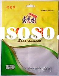 reclosable seasoning food packaging bag with hole and zipper