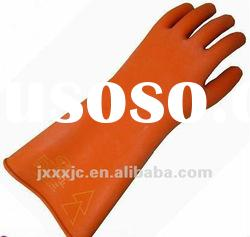 rubber insulating gloves