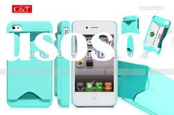 rubberized casrd design case for Iphone4/4s