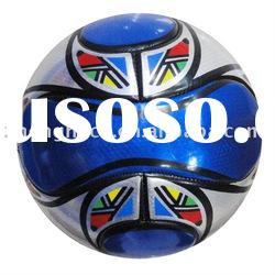 soccer ball & high quality laser shine leather football