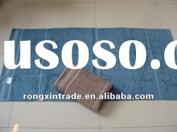 solid 100% cotton bath towel with satin border