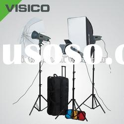studio equipment triple flash light softbox kit