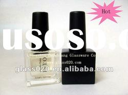transparent and black square nail polish bottle