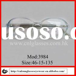 wholesale round design plastic fashion ladies' eyeglasses 2012