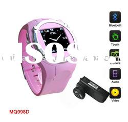 2011 hot item cell phone watch with bluetooth function for MQ998
