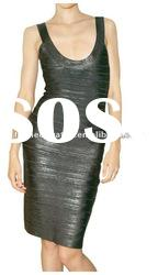 2012 Black Lady Round Neck Party Evening Dress,Fashion Prom Gowns DH161