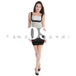 2012 Grey Lady Party Evening Dress with Black Strap,Hot Prom Dress DH175