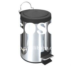 30 Liter Stainless Steel Trash Can - Round Shape w/PP Lid