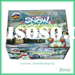 Artificial snow,instant snow,polymer snow ,the new packing