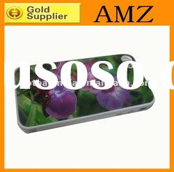 Colored painting design 3D plastic mobile phone case for iphone 4