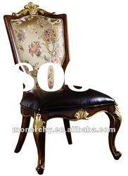 D127-46 high quality solid wood hand carving antique dining chair