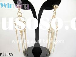Fashion valentine's day gift for girl elegant crystals chandelier earrings eco-fri