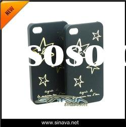 Hot Sale Hard Plastic Star case for iphone 4 4S