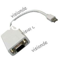 Mini Display Port to VGA Cable Adapter for Mac MacBook (Original chip from USA,CE/FCC, RoHS )