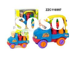 Plastic child car toy with tools ZZC116997