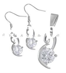 Sweet charm Swan Collection ladies' accessory stainless steel jewelry sets