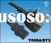 UK Power Cord 3 pins IEC mains lead cable assembly