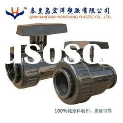 black pvc single union ball valve dn100