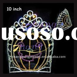 colored rhinestone holiday pageant Halloween crown