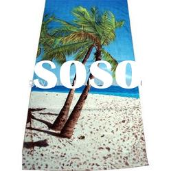 cotton velour printed beach towel supplier