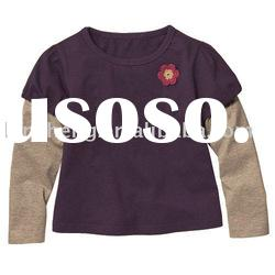 fashion style baby knitted cotton shirts, baby clothes