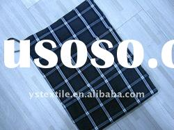 plaid yarn dyed woven cotton fabric
