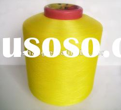 polyester covered spandex yarn for weaving or knitting