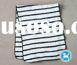 100%cotton black and white bath towel