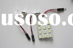 12-SMD LED car Interior Dome light Bulb 5050smd led dome light