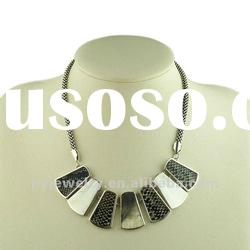 2012 Chunky Necklace Fashion Jewelry, Alloy Charm Necklace
