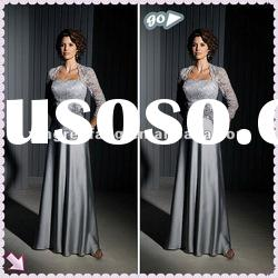 2012 New Style Sleeveless Ruffl Sheath Applique Lace Mother Of The Bride Dresses