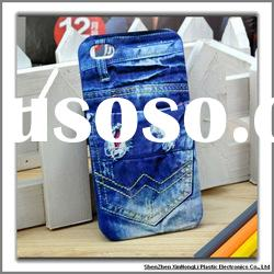 2012 New arrival Jean style cellphone cases for iphone 4g/4gs with factory price