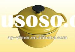 Anping Emay factory enamel cast iron pot yellow