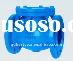 BS flange end cast iron marine/industry swing check valves