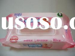 Baby wipes with aloe extract, scented, skin care
