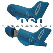 Business gifts silicone airplane shape usb memory stick