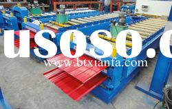 Colored steel double deck tile roll forming machine XF1075/1116