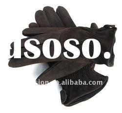 Cow split leather gloves,leather driving gloves