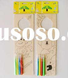DIY Craft Decorative Wooden Door Hanger for Kids Holiday to Paint with Acrylic